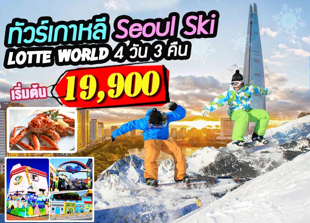 ทัวร์เกาหลี, หมู่บ้านฝรั่งเศส PETITE FRANCE, เกาะนามิ,  เล่นสกีสุดมันส์,