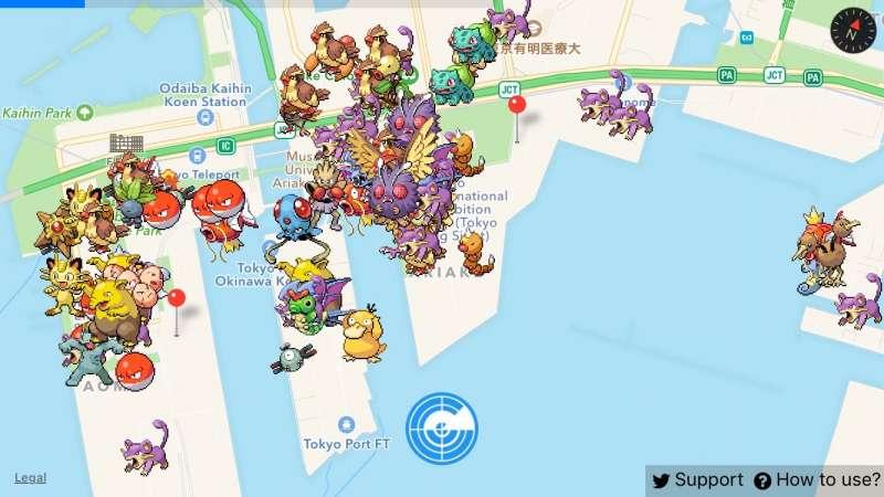 โอไดบะ,Pokemon, โปเกมอน, Pokemon Go, เกม, ท่องเที่ยว, ทัวร์