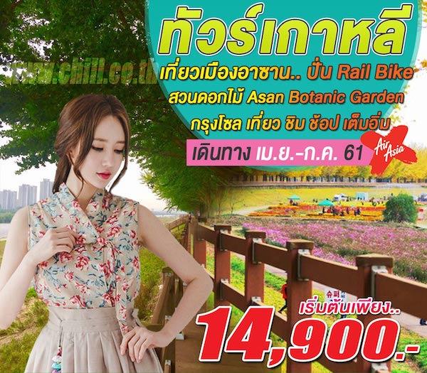 ทัวร์เกาหลีฤดูใบไม้ผลิ อาซาน โซล ชม Asan Botanic Garden 5 วัน 3 คืน โดยสายการบิน Air Asia X