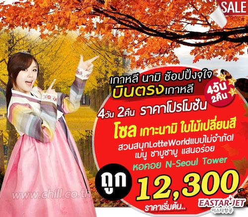 ทัวร์เกาหลี โซล โปรสุดคุ้ม ฤดูใบไม้เปลี่ยนสี สวนสนุกLotte World 4 วัน 2 คืน