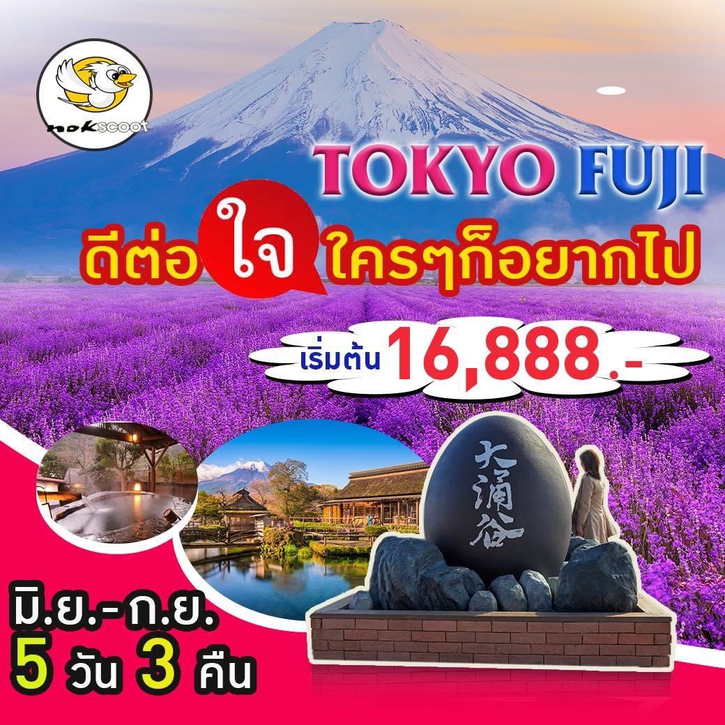 ทัวร์ญี่ปุ่น โตเกียว ภูเขาไฟฟูจิ ชมทุ่งดอกลาเวนเดอร์ ว้ดอาซากุสะ อิสระเต็มวัน 5 วัน 3 คืนโดยสายการบิน NOK SCOOT
