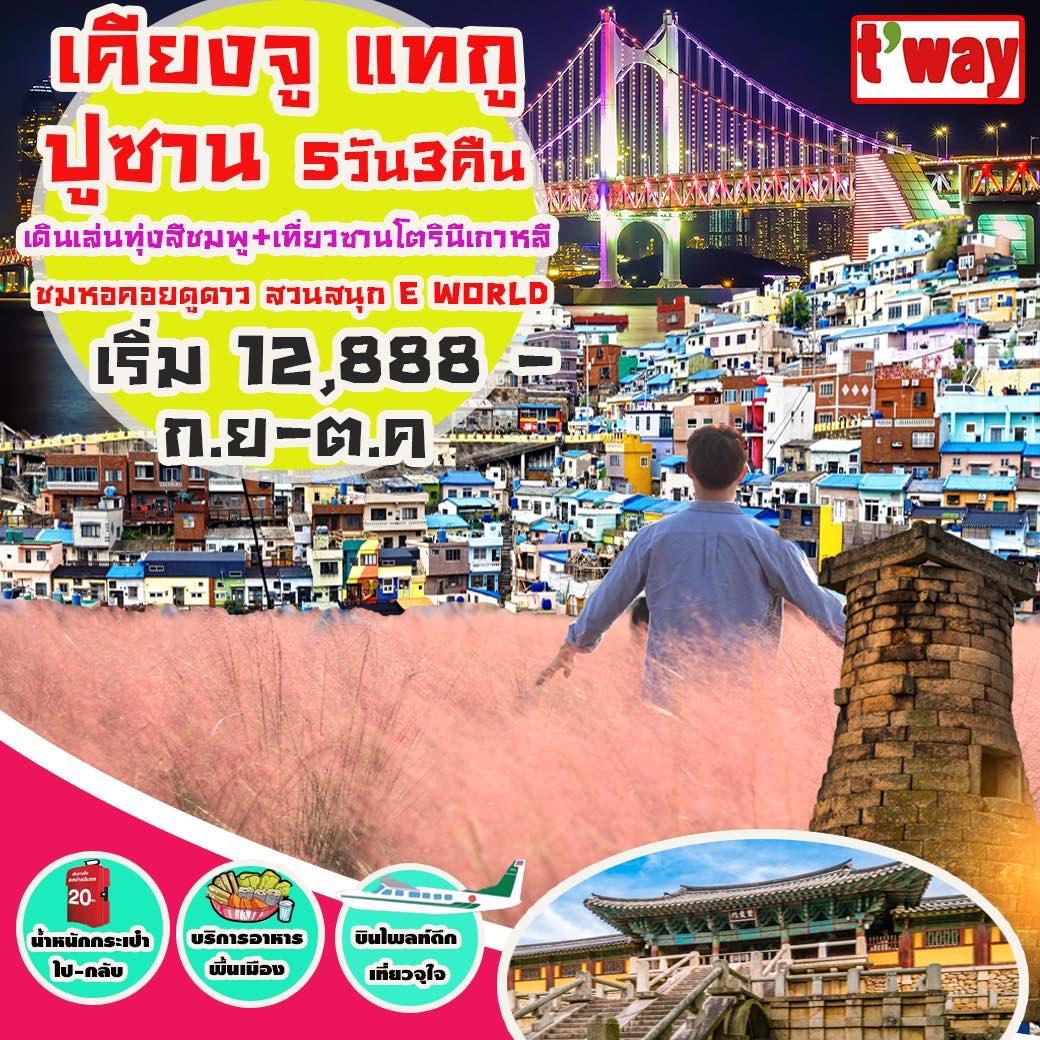 ทัวร์เกาหลี ปูซาน เคียงจู แทกู ชมหอคอยดูดาว สวนสนุก E WORLD 5 วัน 3 คืนโดยสายการบิน TW
