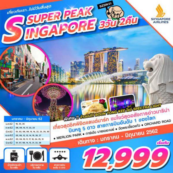 ทัวร์สิงคโปร์ น้ำพุแห่งความมั่งคั่ง GARDEN BY THE BAY ชมมารีน่าเบย์แซนด์ สนุกสุดมันส์ ณ Universal Studio of Singapore 3 วัน 2 คืน โดยสายการบิน SINGAPORE AIRLINES