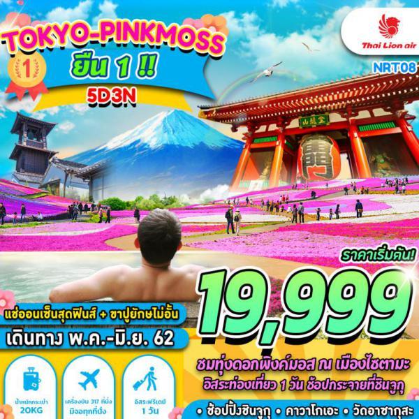 ทัวร์ญี่ปุ่น โตเกียว สุดมันส์ลานสกีฟูจิเท็น วัดอาซากุสะ อิสระเต็มวัน ราคาโปรโมชั่น 5 วัน 3 คืน โดยสายการบิน Thai Lion Air