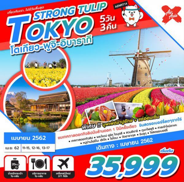 ทัวร์ญี่ปุ่น โตเกียว ฟูจิ อิบารากิ  เทศกาลดอกทิวลิป อาซากุสะ สวนฮิตาชิ ซีไซด์ ปาร์ค 5 วัน 3 คืน โดยสายการบิน Airasia X