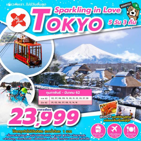 ทัวร์ญี่ปุ่น โตเกียว กระเช้าลอยฟ้าคาชิ คาชิ หมู่บ้านโอชิโนะ ฮักไก วัดอาซากุสะ ชินจูกุ โอไดบะ 5 วัน 3 คืน โดยสายการบิน AirAsia X