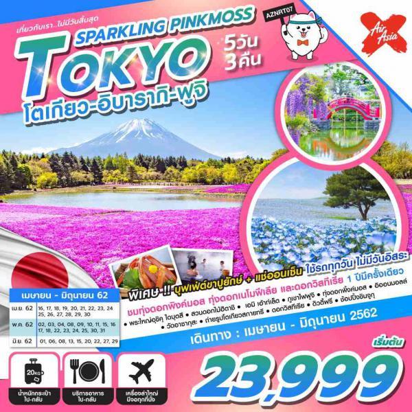 ทัวร์ญี่ปุ่น โตเกียว อิบารากิ ฟูจิ ชมทุ่งดอกพิงค์มอส ทุ่งดอกเนโมฟีเลีย และดอกวิสทีเรีย 1 ปีมีครั้งเดียว ไม่มีวันอิสระ 5 วัน 3 คืนโดยสายการบิน AIR ASIA X (XJ)