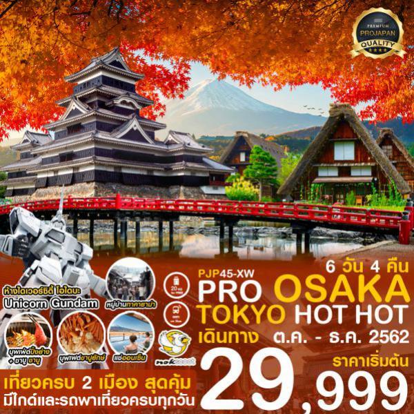 ทัวร์ญี่ปุ่น โอซาก้า โตเกียว ศาจเจ้าเมจิ ปราสาทมัตสึโมโตะ หมู่บ้านโอชิโนะฮักไค 6 วัน 4 คืน โดยสายการบิน Nok Scoot (XW)