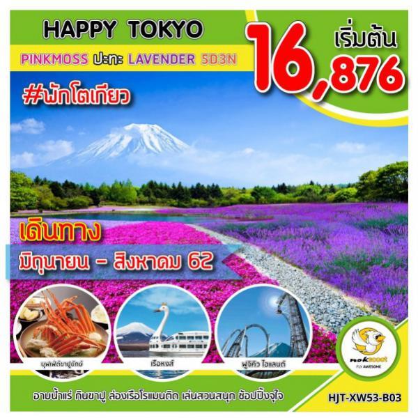 ทัวร์ญี่ปุ่น โตเกียว ชมทุ่งดอกพิงค์มอส ทุ่งลาเวนเดอร์ ล่องเรือหงส์ อิสระฟรีเดย์ 1 วัน 5 วัน 3 คืน โดยสายการบิน Nok Scoot (XW)