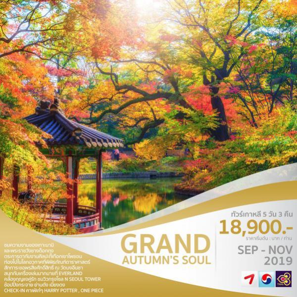 ทัวร์เกาหลี โซล ซูวอน เที่ยวเกาะนามิ หุบเขาศิลปะโพชอน สักการะวัดบงอึนซา ชมวิวกรุงโซล 5 วัน 3 คืน โดยสายการบิน Asiana Airlines (OZ) / Korean Air (KE) / Thai Airways (TG)