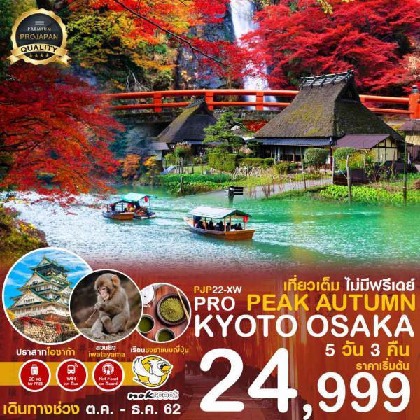 ทัวร์ญี่ปุน เกียวโต โอซาก้า มิยาม่า เที่ยวเต็มอิ่มไม่มีอิสระฟรีเดย์ 5วัน 3คืน โดยสายการบิน Nokscoot(XW)