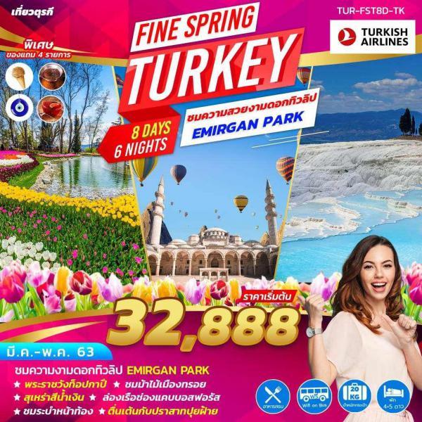 ทัวร์ตุรกี ชมดอกทิวลิปEMIRGAN PARK พระราชวังท็อปกาปึ ชมม้าไม้เมืองทรอย สุเหร่าสีน้ำเงิน ล่องเรือช่องแคบบอสฟอรัส ชมระบำหน้าท้อง 8วัน 6คืน โดยสายการบิน TURKISH AIRLINES (TK)