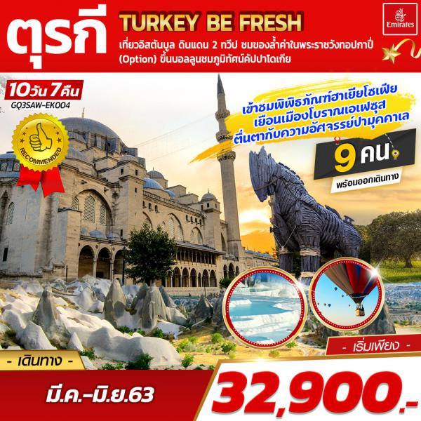 TURKEY BE FRESH ตุรกี 10 DAYS 7 NIGHTS โดยสายการบินเอมิเรตส์ (EK)
