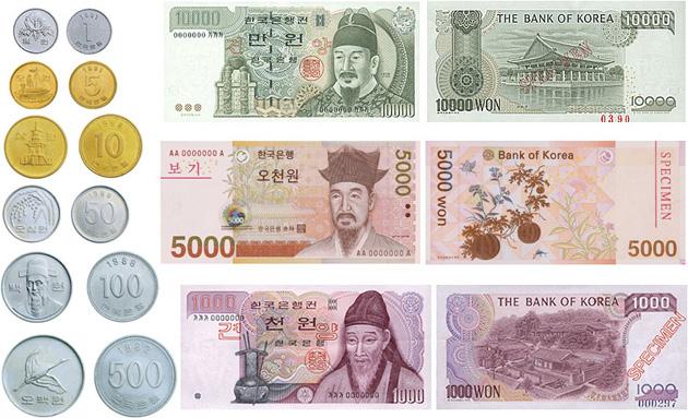 การแลกเงินไปประเทศเกาหลี