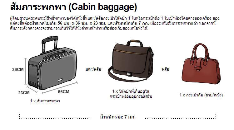 กระเป๋าถือขึ้นเครื่อง