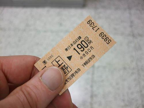 ตั๋วรถไฟฟ้าญี่ปุ่น